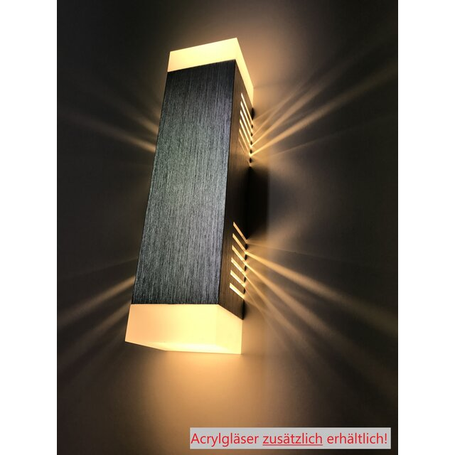 SpiceLED Wandleuchte | ShineLED-6 | Schalter | 2x3W Warmweiß | Schatteneffekt | High-Power Wandlampe B-Ware